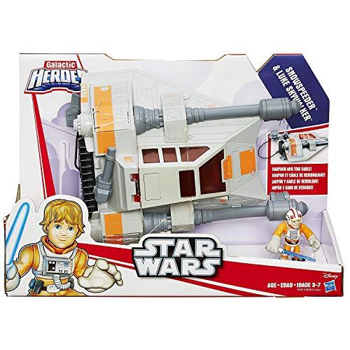 STAR WARS Playskool Heroes Galactic Heroes Jedi Force Snowspeeder vehículo con Luke Skywalker Figura
