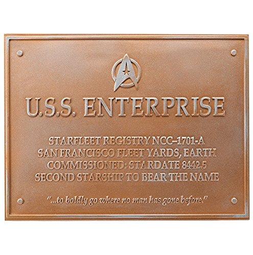 Star Trek U.S.S. Enterprise NCC-1701-A Dedication Plaque - Official Starships Collection