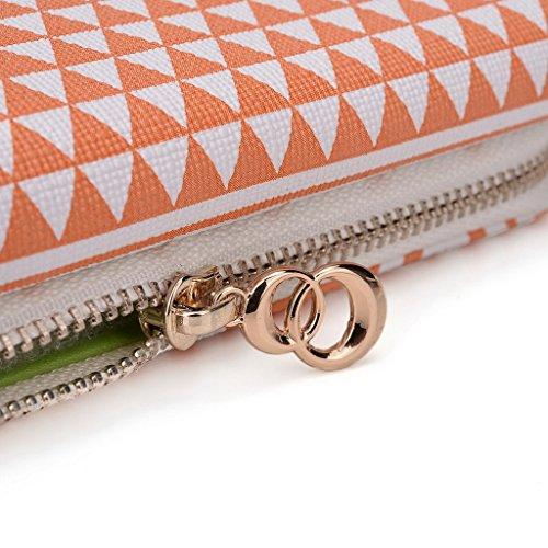 Kroo Pochette/Tribal Urban Style Étui pour téléphone portable compatible avec Lenovo A606 Multicolore - rouge Multicolore - White and Orange