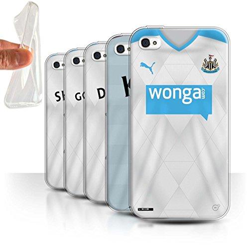 Offiziell Newcastle United FC Hülle / Gel TPU Case für Apple iPhone 4/4S / Pack 29pcs Muster / NUFC Trikot Away 15/16 Kollektion Pack 29pcs