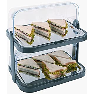 APS CB794Double Decker Rolle Top Cool Display Tabletts