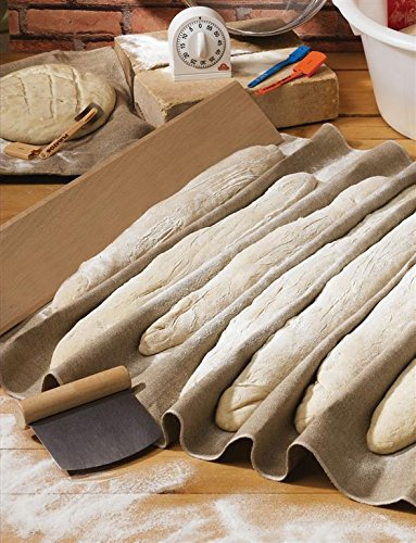 Scandibake Bakers Couche - Linen Proofing Cloth For Baguettes and Breads by Scandibake