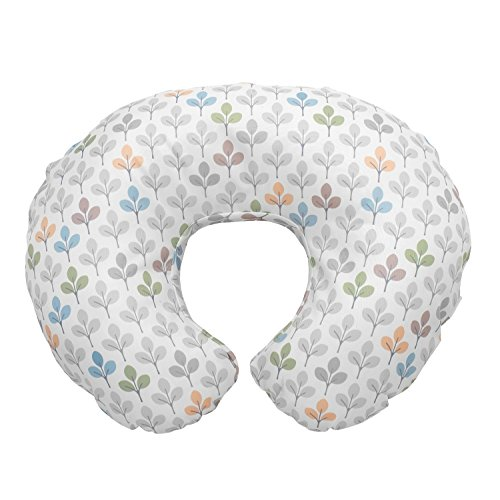 Chicco 08079904300000 Boppy Fodera in Cotone, Multicolore (Silverleaf), 0m+