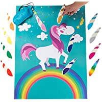 Funnlot Pin the Horn on the Unicorn Birthday Party Games for Kids Unciorn Party Supplies Favours for Girls Unicorn Gifts Set Include a Large Poster 24 Reusable Sticker Horns Good for Big Parties … …