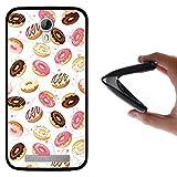 Funda Doogee Valencia 2 Y100 - Y 100 Pro, WoowCase [ Doogee Valencia 2 Y100 - Y 100 Pro ] Funda Silicona Gel Flexible Donuts, Carcasa Case TPU Silicona - Negro