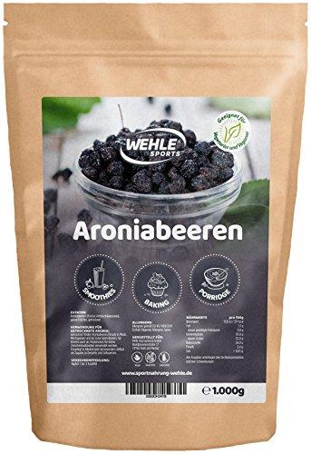 Premium Aronia-Beeren getrocknet - 1Kg