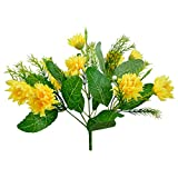 Thefancymart Artificial Flowers Mini Dalia Single Bunch Style Code-140