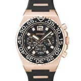 Otumm Athletics II Rose Gold Schwarz Chronograph 45mm Unisex Athletics Armband Uhr
