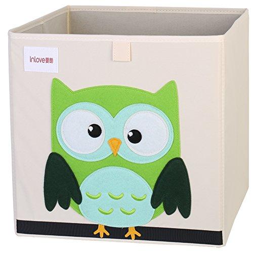 *Cartoon Aufbewahrungswürfel Leinwand faltbare Spielzeug Aufbewahrungsbox für Kinder von ELLEMOI (Eule)*