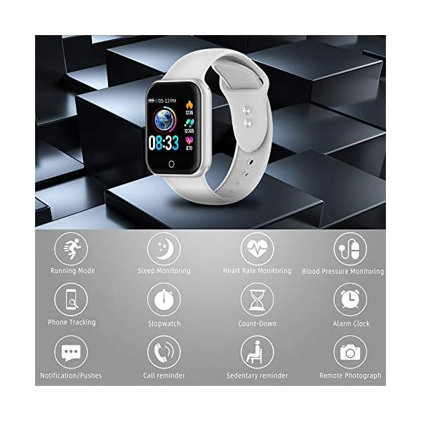 Reloj Inteligente, 1.4 Inch Smartwatch with Monitoreo de presión Arterial, Pulsómetro Impermeable IP68 Pulsera Actividad con Inteligente de Podómetro y Monitoreo del Sueño para Android y iOS 9