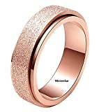 Moneekar Jewels Rose Gold Stainless Steel Spinner Ring Sand Blast Finish Rings