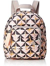 Oilily - Ruffles Geometrical Backpack Svz, Bolsos mochila Mujer, Rosa (Rose), 9x26x22 cm (B x H T)