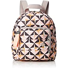 Oilily - Ruffles Geometrical Backpack Svz, Bolsos mochila Mujer, Rosa (Rose),