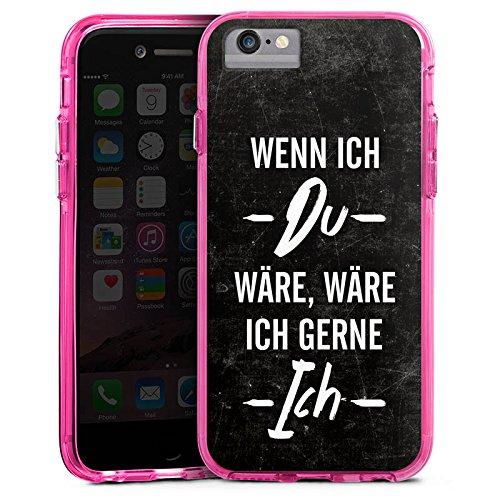 Apple iPhone 7 Plus Bumper Hülle Bumper Case Glitzer Hülle Spruch Saying Phrase Bumper Case transparent pink