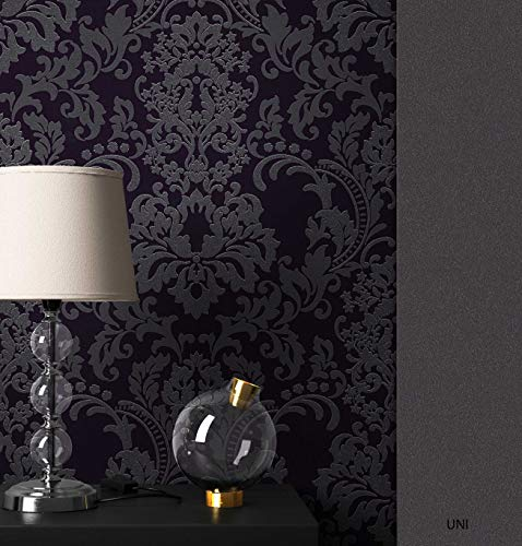 NEWROOM Barocktapete Tapete Schwarz Ornament Barock Vliestapete Vlies moderne Design Optik...