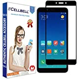 CELLBELL Full Glue Edge to Edge Tempered Glass Screen Protector with Installation Kit for Xiaomi Redmi 6/6A (Black)