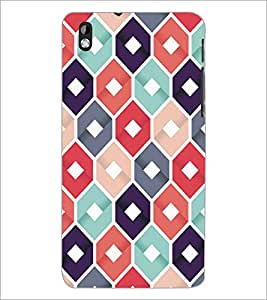 PrintDhaba Pattern D-5286 Back Case Cover for HTC DESIRE 816 (Multi-Coloured)