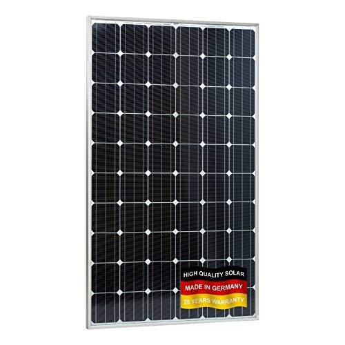 Este panel solar monocristalino de alta eficiencia resistente al agua 280W es perfecta para instalaciones de todos los sistemas en caravanas, autocaravanas, caravanas y barcos para bancos de carga batería auxiliar o para sistemas independientes hog...