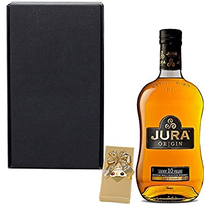 The Isle Of Jura 10 Year Old Origin Single Malt Scotch Whisky 35cl Half Bottle Fathers Day Gift Set With Handcrafted Gifts2Drink Tag