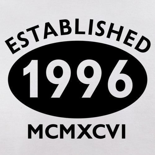 Gegründet 1996 Römische Ziffern - 21 Geburtstag - Herren T-Shirt - 13 Farben Weiß