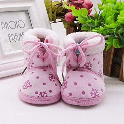 Bild von cinnamou Infant Schuhe Baby Mädchen Schuh Baby schönen Herbst Winter warme weiche Sohle Schneeschuhe weiche Krippe Schuhkleinkind Stiefel