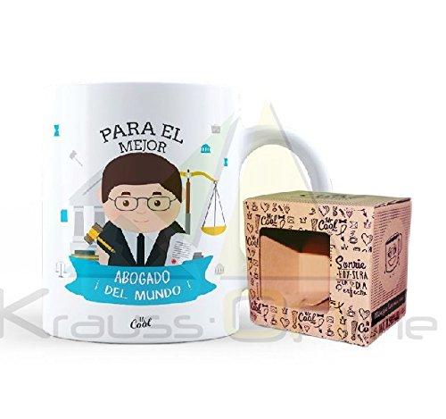 Mr Cool Taza en Caja Regalo en Mensaje para el Mejor Abogado ¡del Mundo, Cerámica, 15x10x5 cm