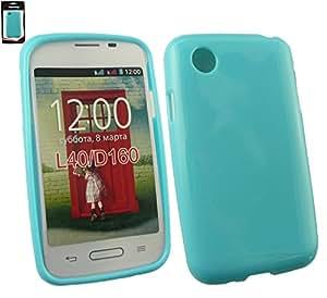 Emartbuy® LG L40 Glänzend Glanz Gel Hülle Schutzhülle Case Cover Blau