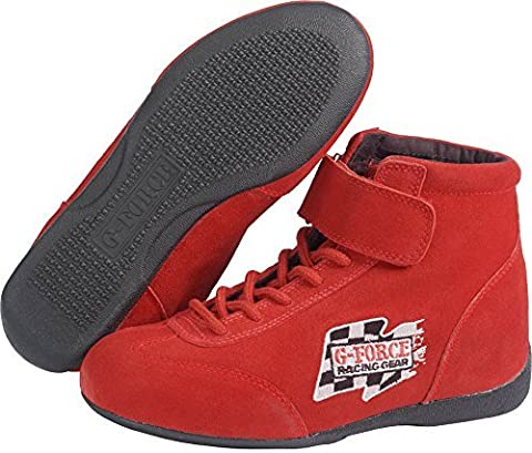 G-Force Racing Gear 0235RD9 GF235 RaceGrip Mid-Top Shoes Red Size 9