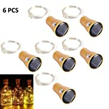 ALED LIGHT 6 Pack LED Solar Wein Flasche Lichter 1 Meter 10 Lichter Cork Shaped Light Kupferdraht Starry String Lights Für Flasche DIY / Hochzeit / Weihnachten / Thanksgiving / Dating Warm White