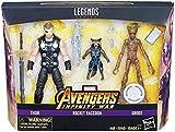 Marvel Legends Avengers Infinity War - Thor, Rocket Raccoon, and Groot 15cm Action Figures - Exclusive