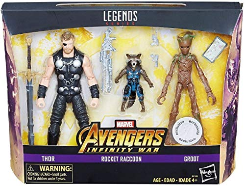 Marvel Legends Avengers Infinity War - Thor, Rocket Raccoon, and Groot 15cm Action Figure - Exclusive