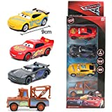 pluspoint a exclusive die cast metal body pull back & push n go set of cars for kids (lightning mcqueen,cruiz ramirez, jackso