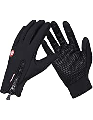 Cycling gloves, Touch Screen Windproof Running Outdoor Sport Gloves for Men Women