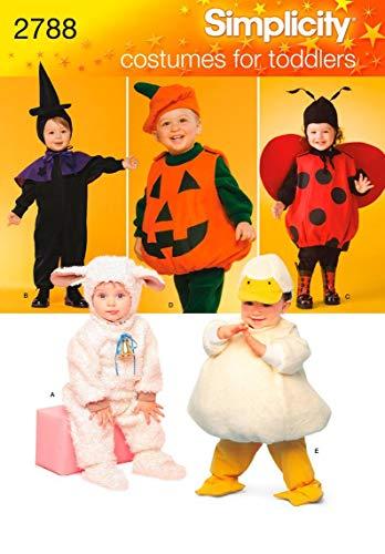 Simplicity A 1/2-1-2-3-4Schnittmuster 2788Kleinkind-Kostüme (Lamb Kostüm Kleinkind)