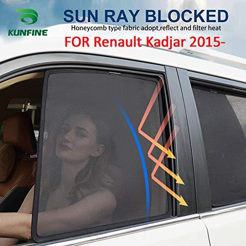 KUNFINE, Tendine Parasole per finestrino Auto, magnetiche, in Rete, per Renault Kadjar 2015, 2016, 2017, 2018, 2019