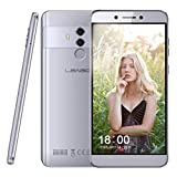 LEAGOO T8s (2019) Android 8.1 Dual SIM 4G Smartphones, 4GB RAM 32GB ROM SIM-Free Mobile Phones Unlocked, 5.5 inch FHD, 64bit Octacore, 13MP Triple Camera, Face + Fingerprint Scanner, Sliver