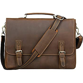 Visconti 16134 Mens Leather Large Shoulder Briefcase Messenger Laptop Bag Case