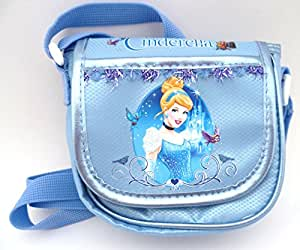 Glittery Disney Princess Cinderella Small Mini Cross Body Toys Mobile Phone Shoulder Messenger Bags Pouch Purse Gifts for kids girls childrens daughter niece school travel birthday cosmetic christmas