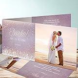 Dankeskarten Hochzeit selbst gestalten