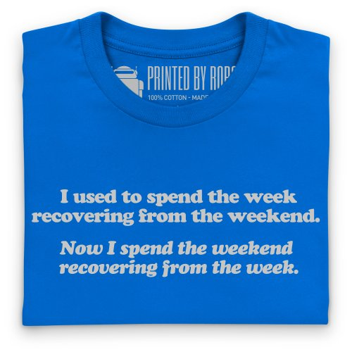 Weekends T-Shirt, Herren Königsblau