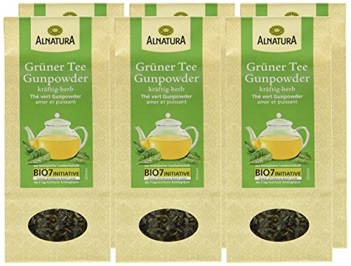 Alnatura Bio loser Grüntee Gunpowder, 6er Pack (6 x 100 g)