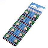 Knopfzellen - SODIAL(R) 1 Set bestehend aus 10 Batterien Knopfzellen AG13 LR44 G13-A D303 L1154 L1154F EPX76 A76 RW82 357 SR44 alkalisch