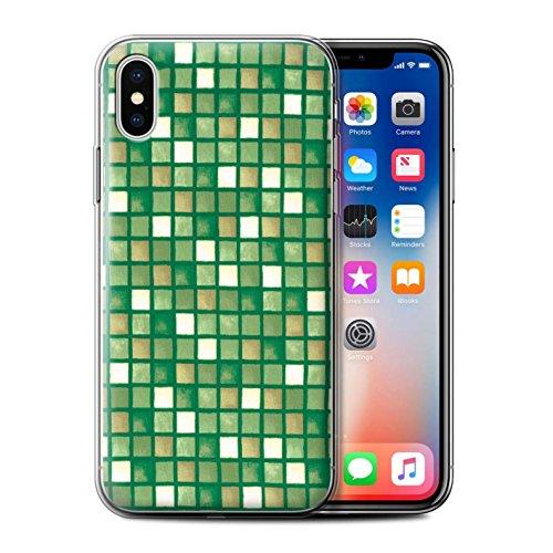 Stuff4 Gel TPU Hülle / Case Für Apple IPhone X/10 / Blau/Türkis