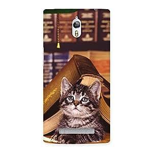 Impressive Cat Book Back Case Cover for Oppo Find 7
