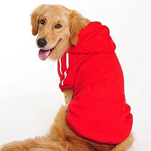 Namsan Moyen Chiens et grands chiens Hoodies Sports, Pull chien, Manteaux --red XXL