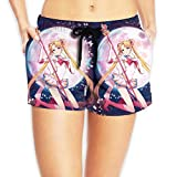 fdgjydjsh Women Sexy Hot Pants Summer Casual Shorts Sailor Moon with Butterfly Short Beach Trousers XXL
