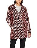 VERO MODA Damen Mantel Vmparis 3/4 Jacket, Rot (Flame Scarlet Pattern:Black&White), 36 (Herstellergröße: S)