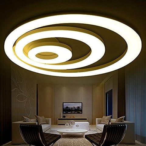 LED-Deckenleuchte einfaches modernes Schlafzimmer warme Atmosphäre Wohnzimmer Originalität Persönlichkeit Kunst rund Dimmen Lampen und Laternen, Electrodeless Dimmen, Double Coil 30 + 60CM / 63W