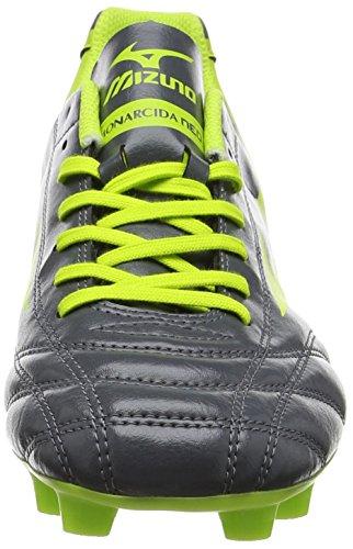 Mizuno Monarcida Neo Md, Chaussures de Football Homme Gris (Dark Shadow/lime Punch)