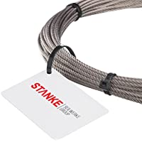 Alambre Cuerda Acero inoxidable Acero Cuerda 3mm, 7x 19acero inoxidable alambre cuerda inox V4A A4inoxidable Barandilla cuerda alambre acero inoxidable acero cuerda